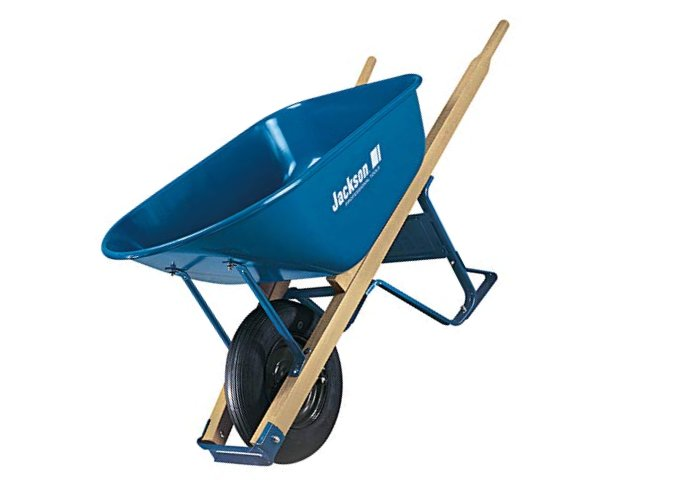 Inc M6T22 Jackson Steel Contractor Wheelbarrow