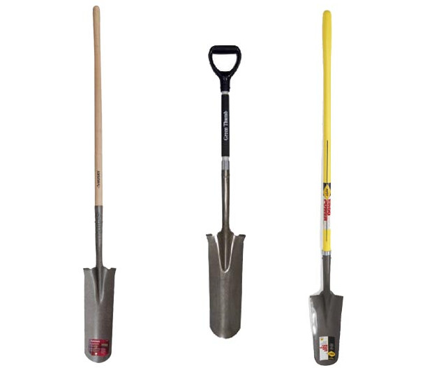 trenching shovels